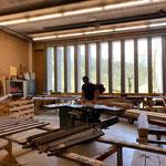 Zaun Spielplatz Schule reparieren in der Tischlerei