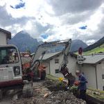 Tagwasserschächte setzen Stubenbach