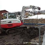 Wasserleitung verlegen, Baustelle Obere Berg