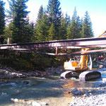 Abbau alte vordere Butzenbrücke