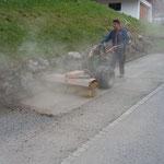 Ortsverschönerung/Splittkehren in Stubenbach