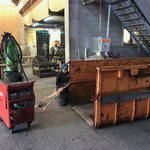 Reparaturarbeiten an Container
