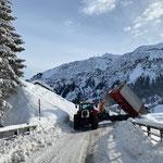 Schnee abkippen Bruchhalde