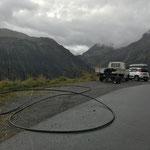 Schlauch für LWL-Kabel einziehen in Oberlech
