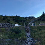 Wanderweg Zürs-Lech, Rohr verlegen