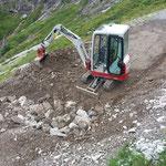 Sanierung Radweg Stierloch, Furt bauen