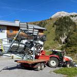 ...für Transport Beleuchtung Flexenrace vom Lagerplatz...