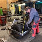 Reifenwalze fertigstellen für Holder C70 SC