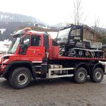 Leihgerät Snow Rabbit für Pistenbully Paana abholen in Wiedemannsdorf/Allgäu