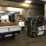 Zuger Weihnachtsmarkt, Equipment verladen am Bauhof
