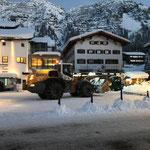 Schneeräumung Konzertbühne am Rüfiplatz