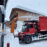 Drittleistung. Schneedepot holen am Tannberg. Mit U530
