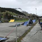 Skatepark und Jugendplatz für Öffnung vorbereiten