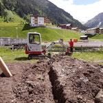 Wasserabfluss graben Brunnen