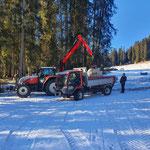 Wegverbreiterung Winterwanderweg Tannberg-Engerle Wald