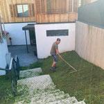 Rasenpflege Haus Betreutes Wohnen