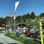 Rasenpflege, Buswartestelle Schlosskopf