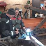 Containerhänger, Reparaturarbeiten und Pflege