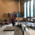 Arbeiten für Renovierung Stiege Mesmerstall in der Tischlerei