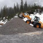 Material schütten Deponie Hoher Steg