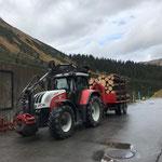 Holzfuhr mit Steyr 6190 CVT