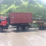 U530 Fahrt mit Klärschlamm, Abholung Blumentröge in Lauterach