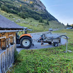 WC-Grube leeren, Alpe Formarin