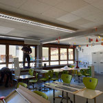 Lampenmontage Neue Mittelschule