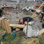05. Juni: Arbeiten am Sandkasten