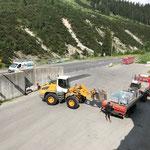 Materialverladetätigkeit für Arlberg Classic Car Rally