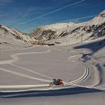 Winterwanderweg anlegen Richtung Flexenpass