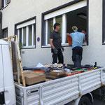 Postamtsgebäude ausräumen...