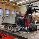 Bowdenzug-Reparatur Lenkbremse Raupen-Dumper