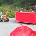 Rangierarbeiten am Bauhofdach