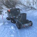 Müll und Hundekot-Dienst Winterwanderwege Oberlech
