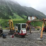 13. Juni: Gelände modellieren, Material schütten