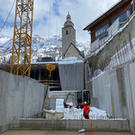 TB 216 im Einsatz Gemeindezentrum, Schneeräumung