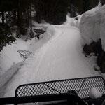 Präparierung Winterwanderweg Tannberg, Rudtobel