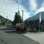 Wassertank füllen am Hydrant Schlosskopf