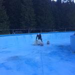 Waldbad Lech - Becken winterfest präparieren