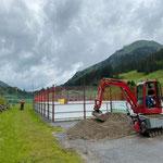 Weg schottern Fußballplatz Richtung Oberstubenbach