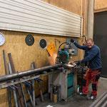 Schlosserarbeiten Anhängerdeichsel Steyr 6240 CVT