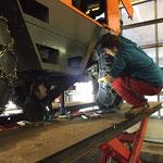 Reparaturarbeiten und Öllecksuche an der Rolba 1500