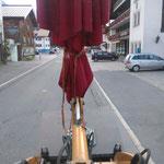 Schirmtransport Zuger Dorffest, mit Lader 509