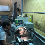 Metall-Stifte für Regalbau Gemeindeamt drehen