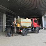Kanalspül- und Reinigungsarbeiten am Bauhof, mit U400
