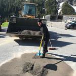 Baustelle Sanierung Gemeindestall Zug aufräumen