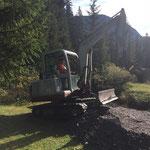 Waldbad Lech - Kinderbecken-Neubau: Baggerarbeiten