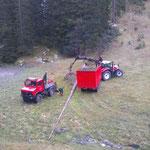 Holzen Ameisenhügel Spullerwald, mit U1600 und Steyr 6190 CVT