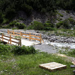 Brücke renovieren unterhalb Bauhof